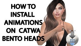 CATWA How to install animations to HUD [C] using installers