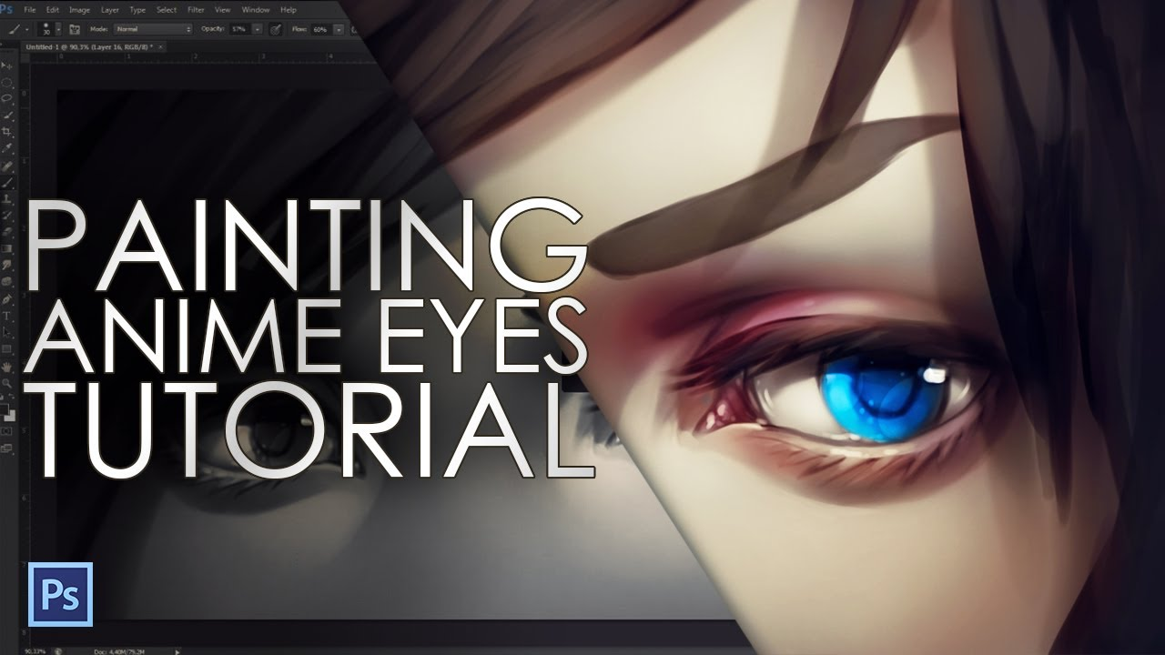 Digital Eye Drawing How to Paint Anime Eyes