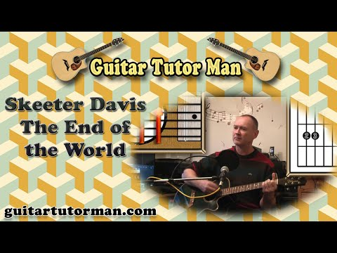 The End Of The World - Skeeter Davis - Acoustic Guitar Lesson (easy-ish) video
