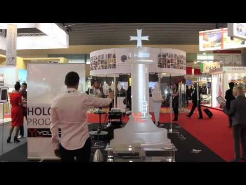 Hologram production Youlalight on EIBTM2013 - the global meetings & events expo