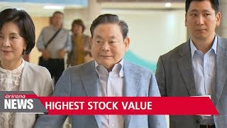 Samsung chief Lee Kun-hee's stocks up US$3.7 bil. after rally