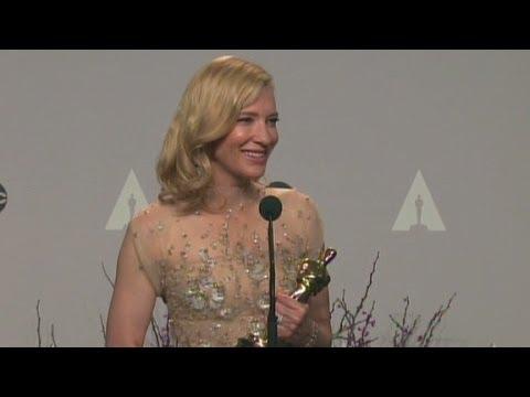 Cate Blanchett talks about winning Best Actress