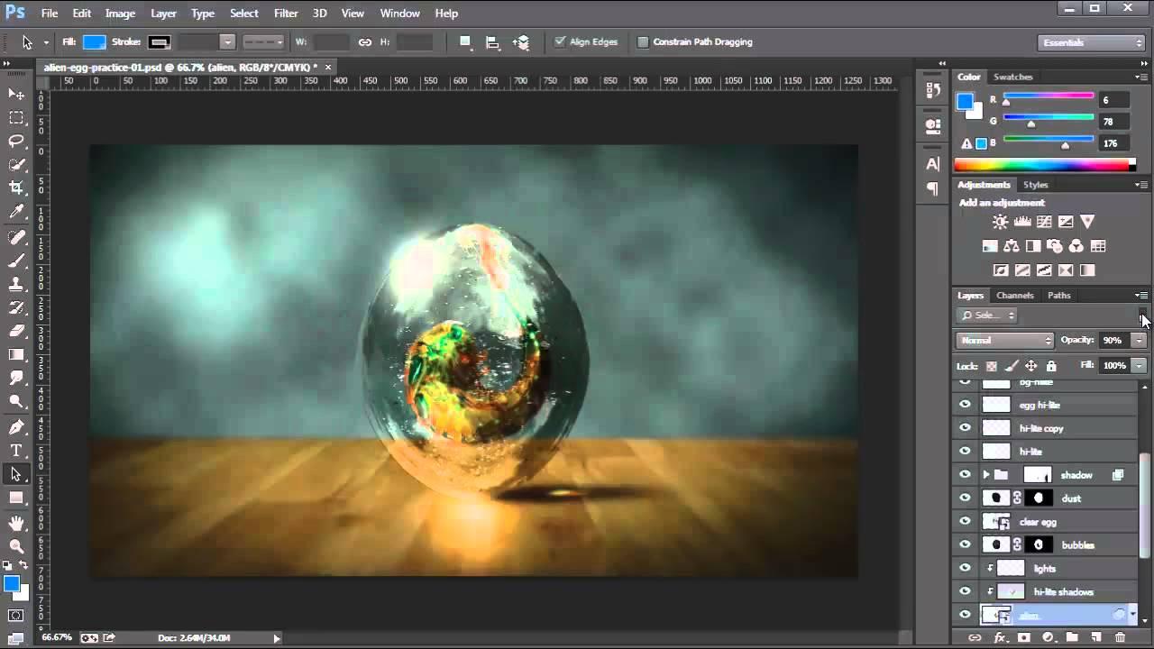 Isolate Layers - Photoshop CC Tutorial - YouTube