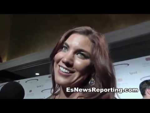 Hope Solo: I've always been a manny pacquiao fan but says floyd mayweather may win - EsNews