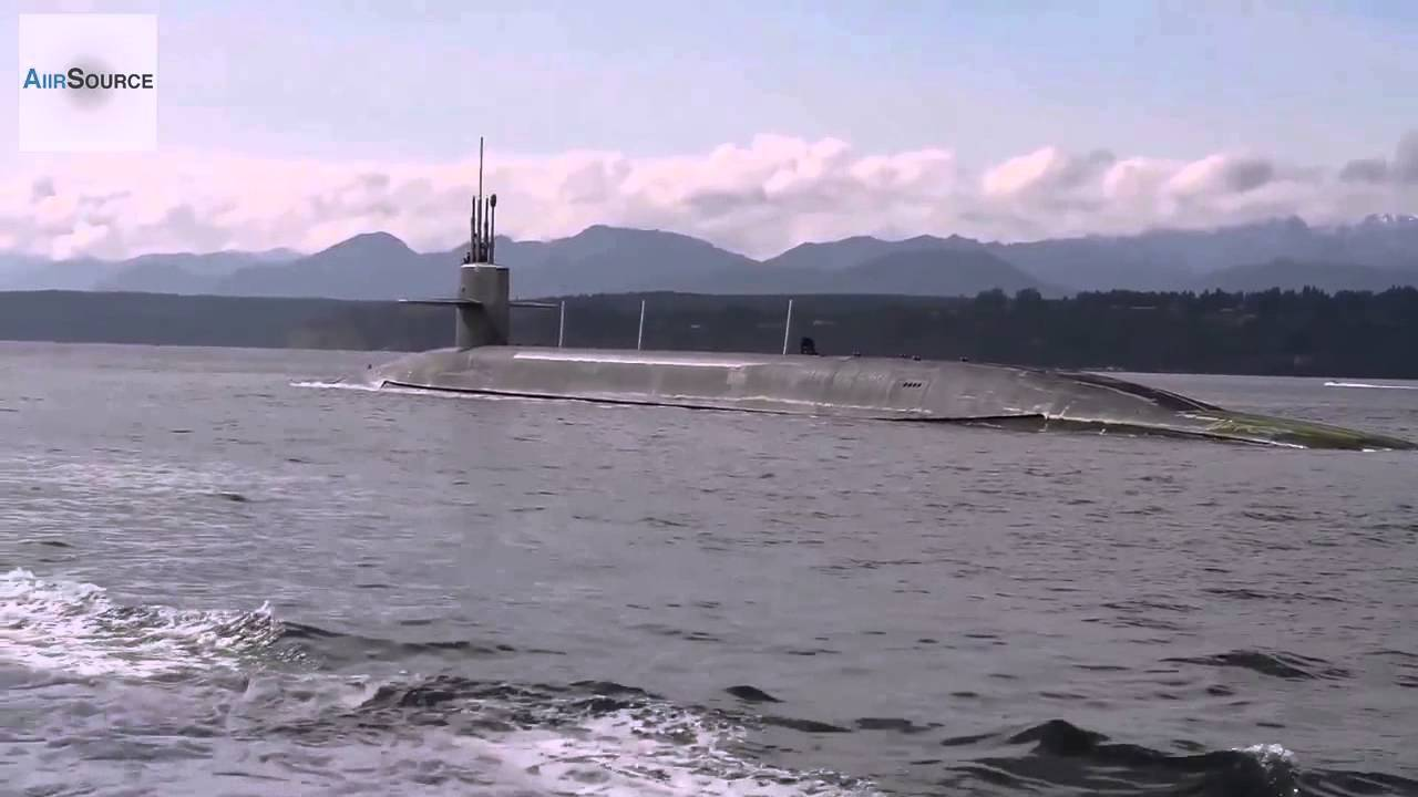 Us military s ballistic missile submarine uss pennsylvania sails