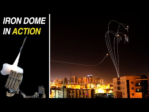 Amazing Video!!  Missile Attack on Be'er Sheva-ISRAEL From GAZA STRIP - Intercepted by Iron Dome