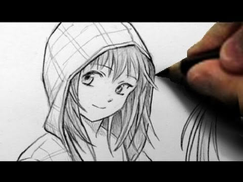 how to draw a hoodie on a boy