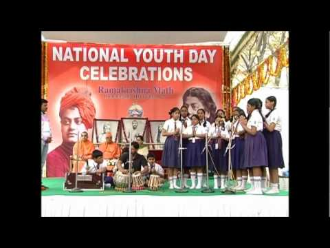 Prayer By Dav Safilguda School Students On 2nd Day - 11 Jan 2012 - National Youth Day Celebrations video