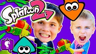 PAINT BLASTED SPLATOON Adventure with Roller Challenge and Video Gaming