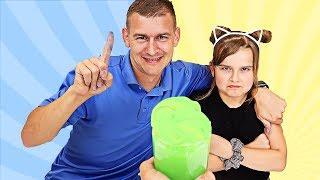 FIX THIS SLIME CHALLENGE! DAD vs DAUGHTER | JKrew