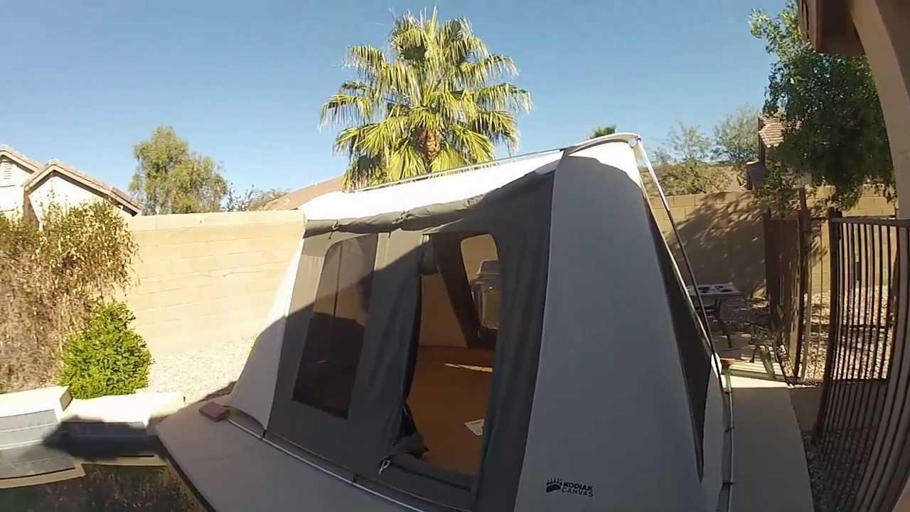 Deluxe Kodiak Canvas Tent 6041vx 10x14 Youtube