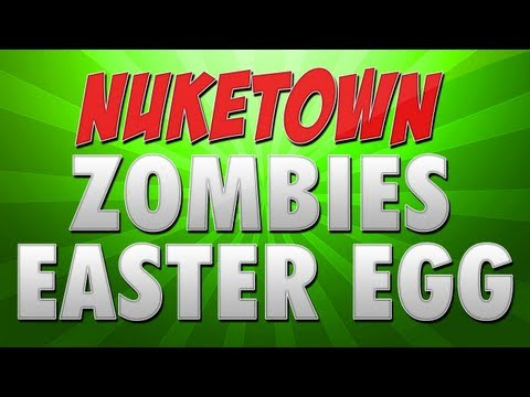 Black Ops 2: NukeTown Zombies Easter Egg - Teddy Bears Hidden Song (Nuketown Zombies Gameplay)