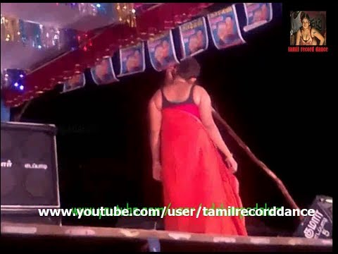 hot telugu aunty sari removing  Village Latest Hot Record Dance