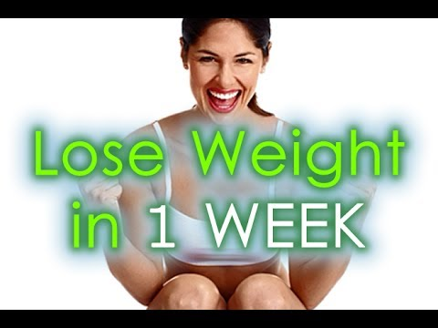 Lose weight in 1 week at home