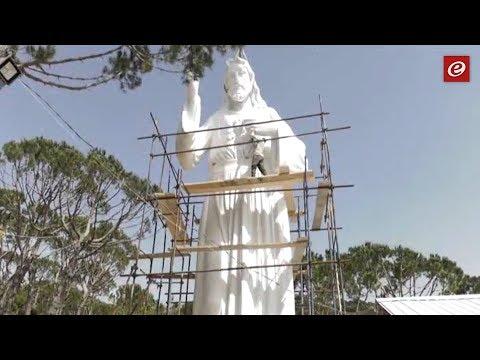 أكبر تمثال للسيد المسيح في الشرق الاوسط بتوقيع لبناني