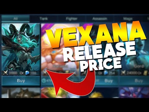 Mobile Legends Vexana Release Date & Price / Cost?