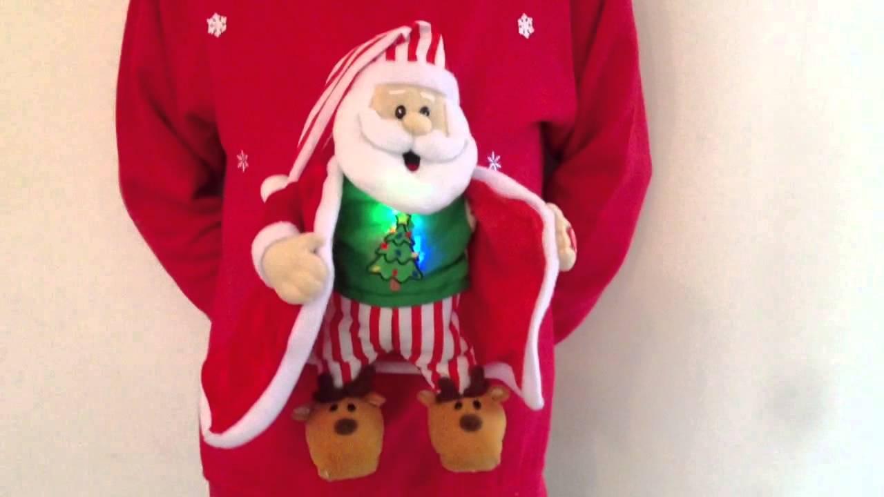 Christmas Jumper Musical Flashing Santa Youtube