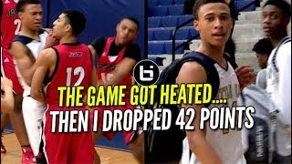 THE GAME GOT HEATED So  #1 YOUNG PG RJ Hampton Dropped 42 Points!! Full Highlights
