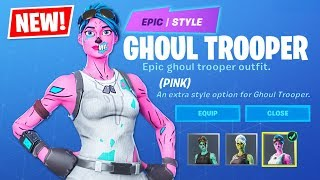 OG PINK GHOUL TROOPER!! New Halloween ITEM SHOP Update!! (Fortnite Battle Royale)