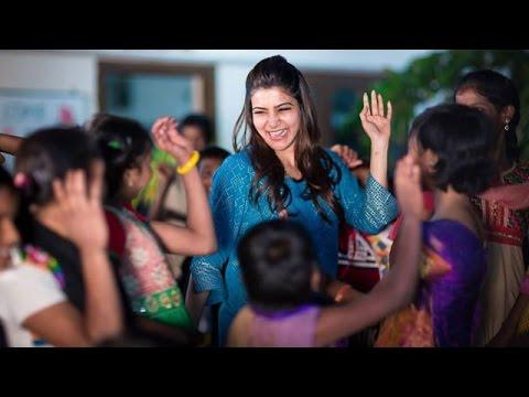 Samantha Ruth Prabhu Celebrates Diwali @ Desire Society (  with HIV affected kids ) Photos