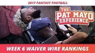 2017 Fantasy Football - Week 6 Waiver Wire Rankings, Injuries, Recap + MORE