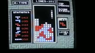 Tetris NES all 9's High Score