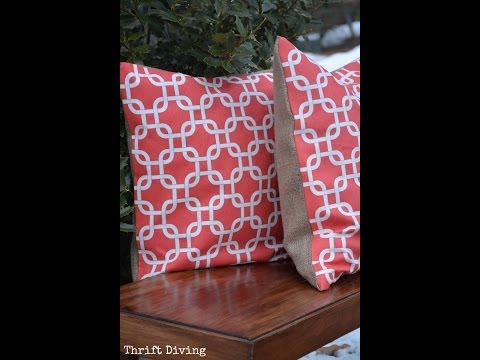 How to Make a No Sew Pillow - DIY TUTORIAL - Thrift Diving