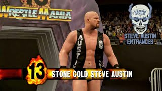 """Stone Cold"" Steve Austin - All WrestleMania Entrances (story modes)"