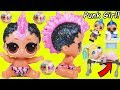 Lil Punk Girl Custom Sister as New Baby Boi at School + Pharaoh Babe Unicorn LOL Surprise Dolls thumbnail