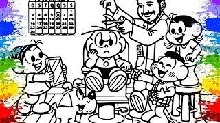 Turma da Mônica em Portugues Cebolinha Penteados Colorir Desenhos Cartoons para crianças friendly