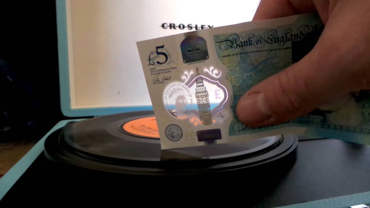 The Newest Paper Money In The UK Can Play Vinyl Records