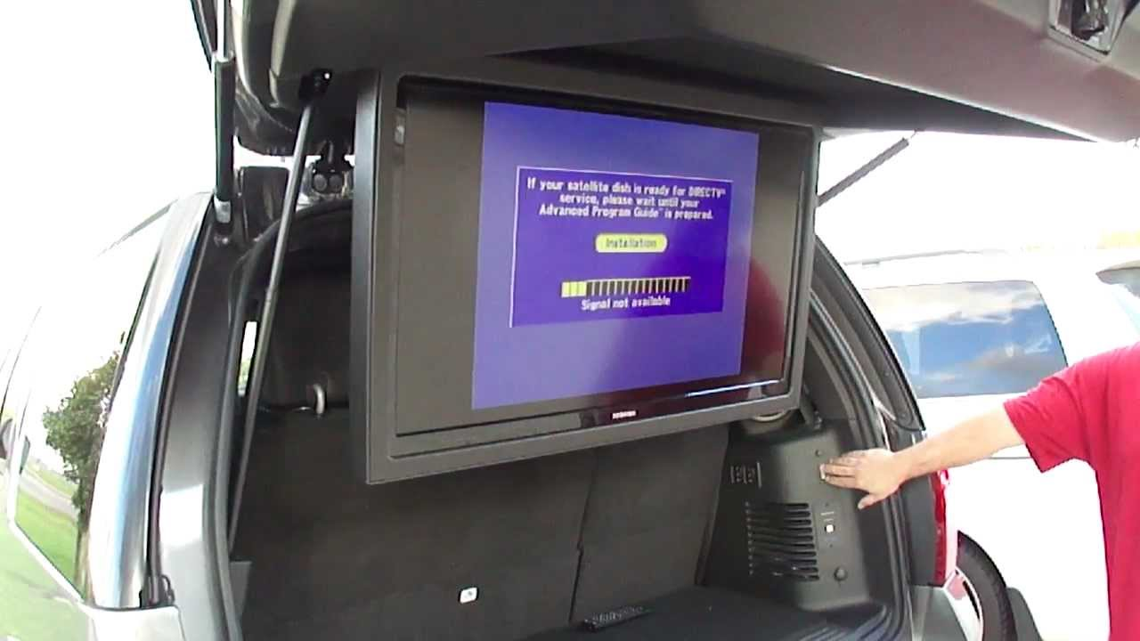 Ford Expedition 40 Inch Flip Down Tv Motorized Lcd Screen