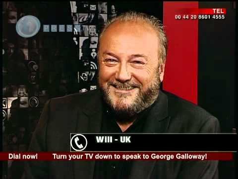 Why did William Hague call George Galloway during Comment show on Press TV?