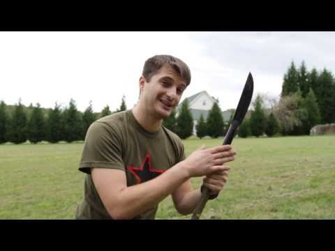 Cold Steel's Bushman : Survival Knife& Spear (review)