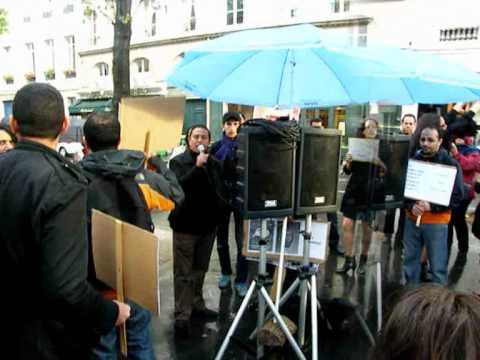 Comité marocain de suivi du 20 février Paris rassemblement devant le Quai d'orsay .wmv