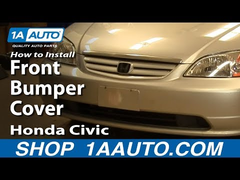 How To Install Replace Remove Front Bumper Cover Honda Civic 01-05 1AAuto.com