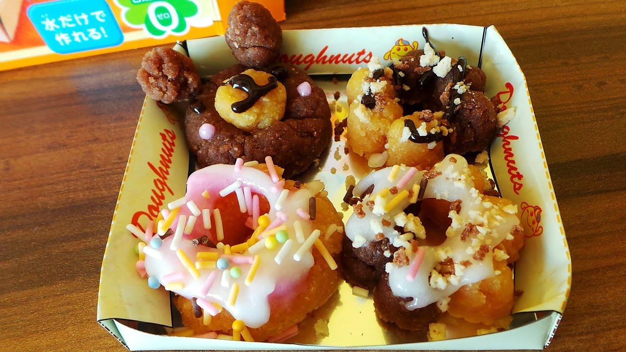 Готовим пончики. Обзор японского набора для детей с разноцветными порошочками. FunnyDog.TV