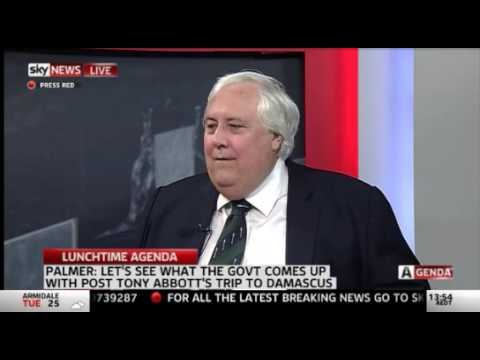 Sky Agenda - Clive Palmer - full interview after Abbott Spill Motion 10-02-2015