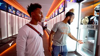I BECAME A D-1 COLLEGE FOOTBALL RECRUIT FOR 24 HOURS.. (TEXAS LOCKER ROOM TOUR)