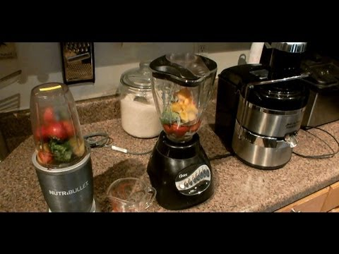 NUTRIBULLET VS BLENDER AND JUICER