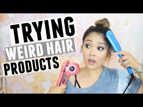 TRYING WEIRD HAIR PRODUCTS | JaaackJack