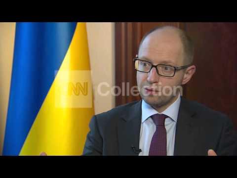 UKRAINE PM YATSENYUK MESSAGE TO PUTIN