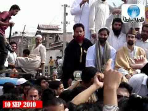 10 SEP 2010 : Mirwaiz Omar Farooq & Yaseen Malik in Unity March - Part 01