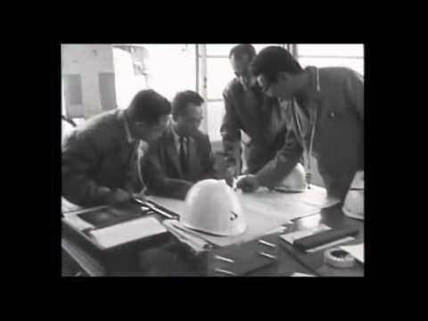 昭和40年  干拓進む大潟村、発足した道路舗装事務所