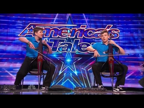 America's Got Talent S09E05 Emil & Dariel Brothers perform Jimi Hendrix on Dueling Cellos