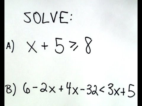 Solving Linear Inequalities