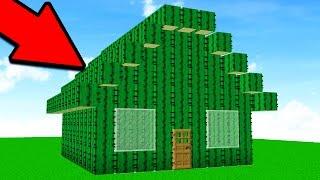 TURNING PLAYERS HOUSES INTO CACTI! (Minecraft Trolling)