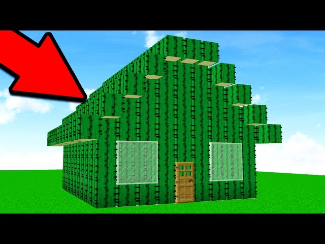 TURNING PLAYERS HOUSES INTO CACTI! Minecraft Trolling