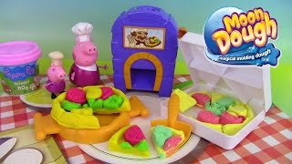 Pâte à modeler Moon Dough Four à Pizza Pizzeria Playset Peppa Pig Play Doh