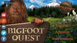 Bigfoot Quest. Solución completa del juego. Full walkthrough.